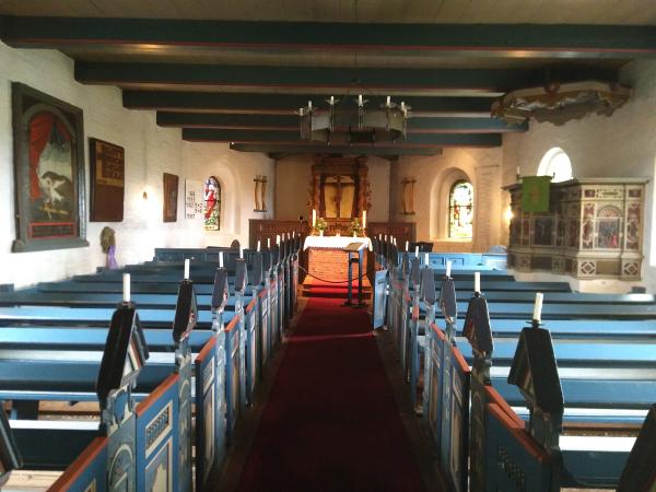 Die Kirche der Hallig Hooge