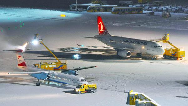 Winter am Salzburg Airport