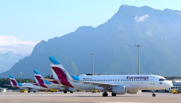 3 Eurowings in Salzburg