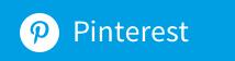 Logo von Pinterest auf blauem Grund