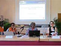 Dr. Penine Uwimbabazi, Dr. Poppy Masinga und Prof. Dr. Karin Sauer (Bild: DHBW Villingen-Schwenningen)