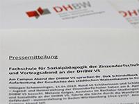 Pressemitteilung der DHBW Villingen-Schwenningen