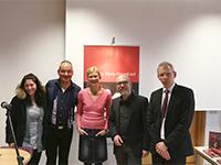 Clemens Maria Heymkind mit Tochter, Prof. Dr. Barbara Schramkowski, Prof. Dr. Andreas Polutta und Prof. Dr. Torsten Bleich
