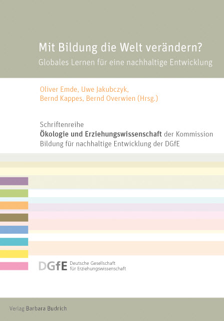 """Titel Sammelband """"Mit Bildung die Welt verändern?"""" Quelle: shop.budrich-academic.de"""