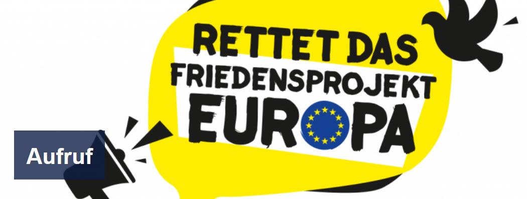 Logo Rettet das Friedensprojekt Europa. Quelle: forumzfd.de