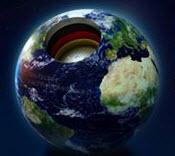 Geöffnete Weltkugel, Motiv zum Deutschen Nachhaltigkeitspreis. Quelle: facebook.com/nachhaltigkeitspreis