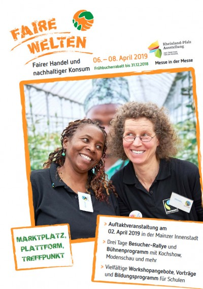 Infoflyer zur Messe Faire Welten 2019. Quelle: fairewelten-messe.de