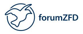 Logo forumZFD. Quelle: forumzfd.de