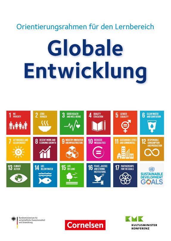 Cover des Orientierungsrahmens für den Lernbereich Globale Entwicklung. Quelle: Engagement Global