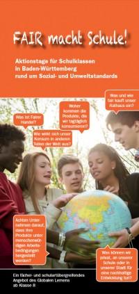 Flyer Fair macht Schule: Quelle: DEAB e.V.