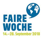 Logo Faire Woche 2018. Quelle: faire-woche.de