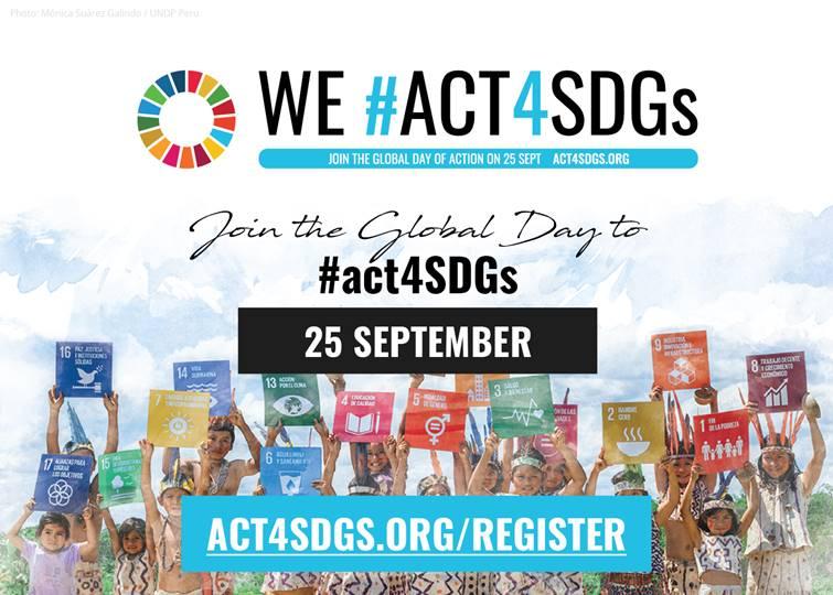 Plakat #Act4SDGs. Quelle: act4sdgs.org