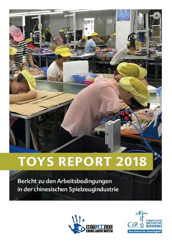 Titelseite Toys Report 2018. Quelle: Christliche Initiative Romero (CIR)