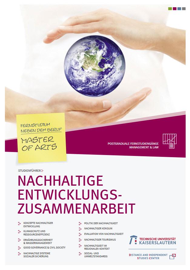 """Titelseite """"Studienführer Nachhaltige Entwicklungszusammenarbeit"""". Quelle: zfuw.uni-kl.de"""