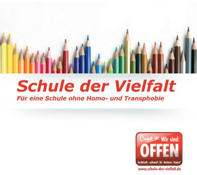 Titelseite Broschüre zum Antidiskriminierungsprojekt Schule der Vielfalt. Quelle: schule-der-vielfalt.de