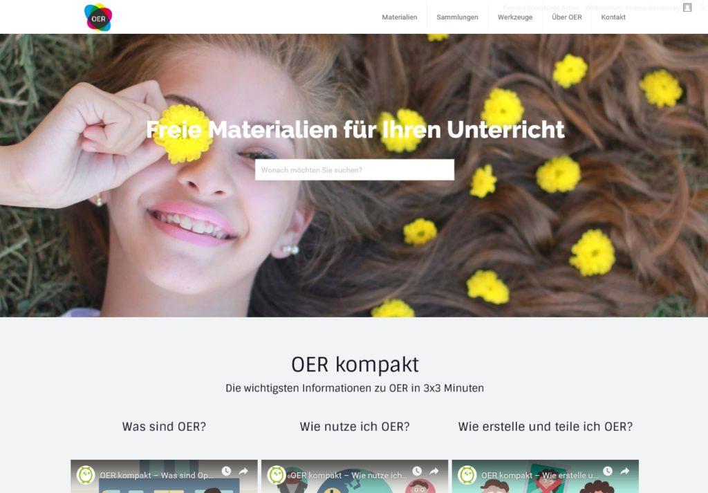 OER.schule: Freie Bildungsmaterialien für offene Lernräume. Bildquelle: oer.schule/ueber-oer-schule/