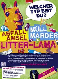 """Aktionsposter zum Projekt """"Gib Abfall einen Korb"""". Bildquelle: www.zeitbild.de"""