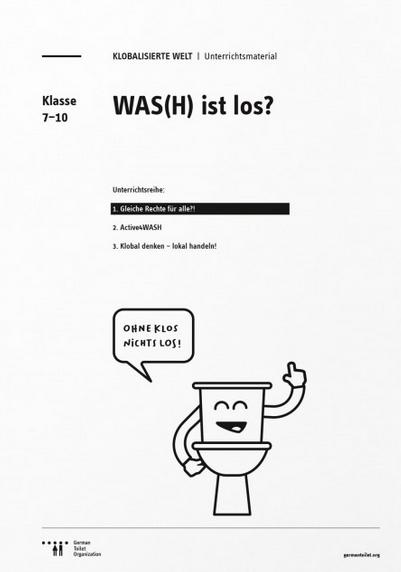 "Titelseite Material ""WAS(H) IST LOS?"" der German Toilet Organization e. V. Quelle: germantoilet.org"