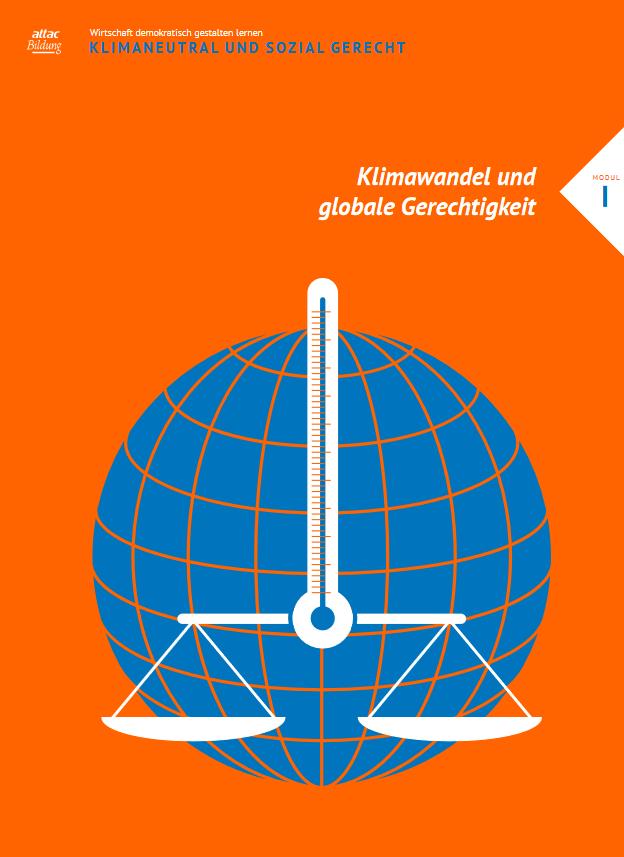"""Cover des Moduls I: """"Klimawandel und soziale Gerechtigkeit"""". Quelle: attac.de"""