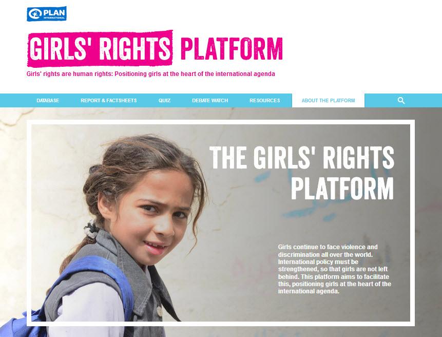Screenshot The Girl's Rights Platform - girlsrightsplatform.org