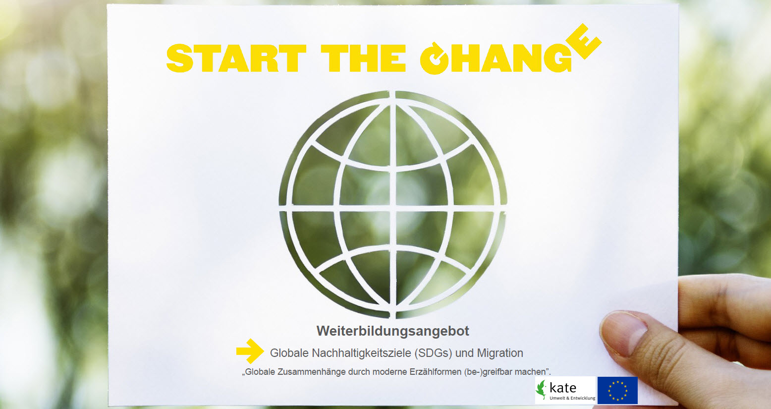 "Foto zum Weiterbildungsangebot ""Start the Change"". Quelle: kate Stuttgart"