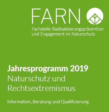 Ausschnitt Titelseite Jahresprogramm FARN. Quelle: nf-farn.de