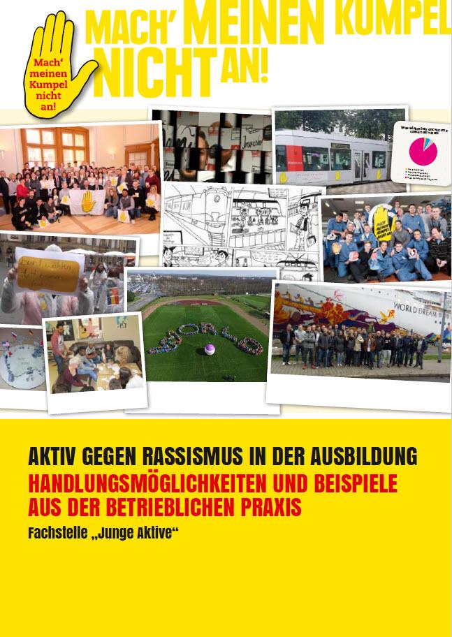Broschüre Aktiv gegen Rassismus in der Ausbildung Titelseite. Quelle: gelbehand.de