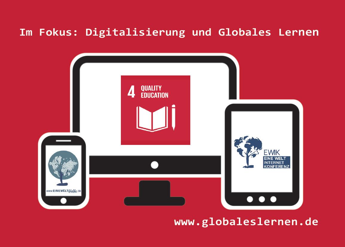 Flyer Fokus Digitalisierung. Quelle: Portal Globales Lernen