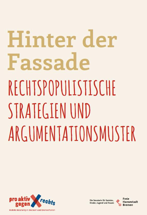 Titelseite Broschüre Hinter der Fassade. Quelle: demokratiezentrum.bremen.de