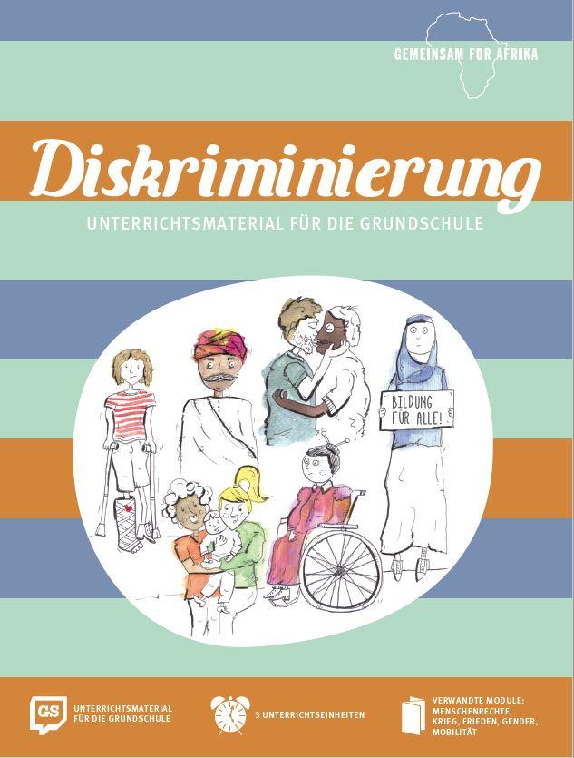 Titelseite des Unterrichtsmaterials Diskriminierung. Quelle: gemeinsam-fuer-afrika.de
