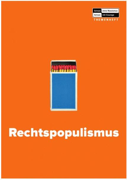 Titelseite Themenheft Rechtspopulismus. Quelle: courageshop.schule-ohne-rassismus.org
