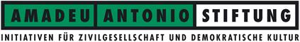 Logo Amadeu Antonio Stiftung. Quelle: amadeu-antonio-stiftung.de