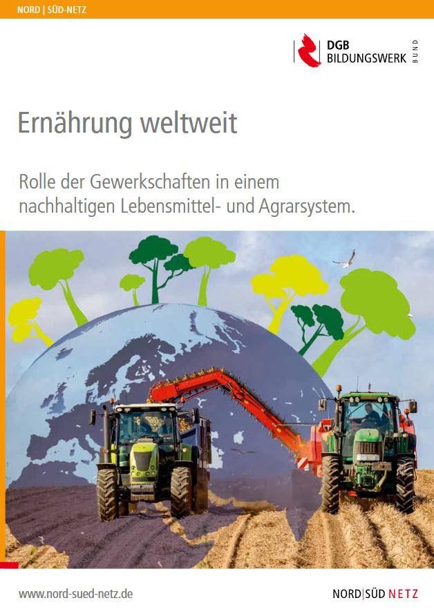 """Titelseite Broschüre """"Ernährung Weltweit"""". Quelle: dgb-bildungswerk.de"""