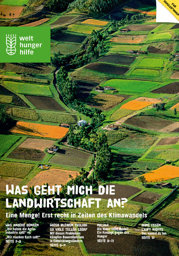 "Titelseite Schüler*innenheft ""Was geht mich die Landwirtschaft an?"" Quelle: welthungerhilfe.de"