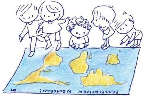 Weltkarte Perspektiven wechseln. Quelle: Engagement Global