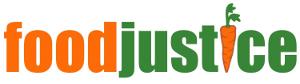 Logo foodjustice. Quelle: foodjustice.de