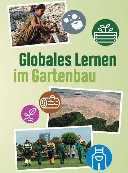 Cover des Faltblatts des Grünen Klassenzimmers Quelle: www.globales-lernen-gartenbau.de