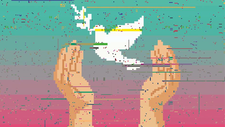 """Schöne neue Welt? Materialheft zum Thema """"Menschenrechte und Digitalisierung"""". Quelle: ekd.de"""