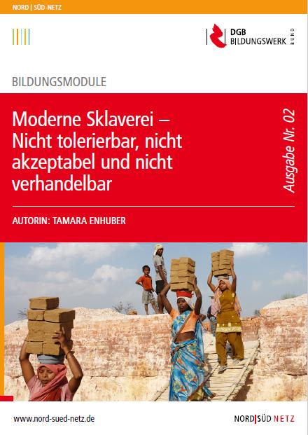 """Broschüre """"Moderne Sklaverei"""" (Quelle: https://www.nord-sued-netz.de/medien/material-bestellen)"""