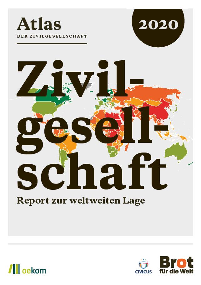 Titelseite Atlas der Zivilgesellschaft 2020. Quelle: Brot für die Welt und CIVICUS