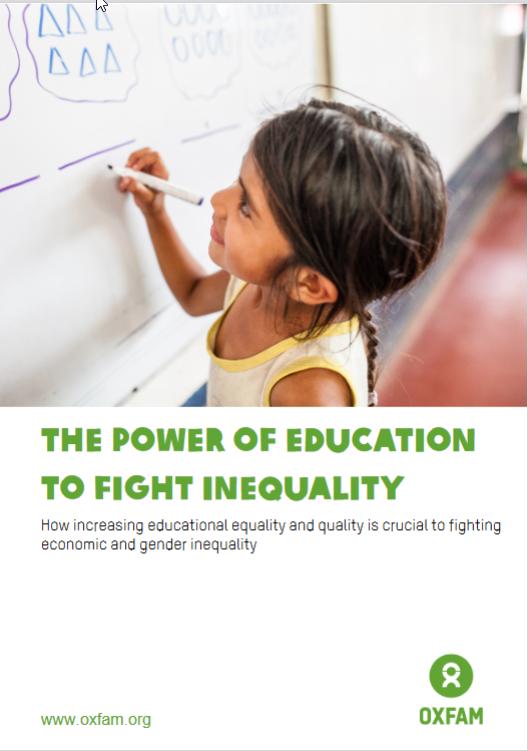 Titelbild-Oxfam Studie  Soziale Ungleichheit Quelle: oxfam.de/presse/pressemitteilungen/2019-09-17-oxfam-studie-soziale-ungleichheit-gefaehrdet-bildungsziele-uno