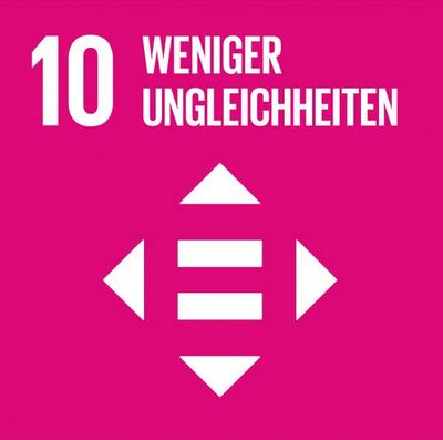 Logo SDG 10  Quelle: 17ziele.de