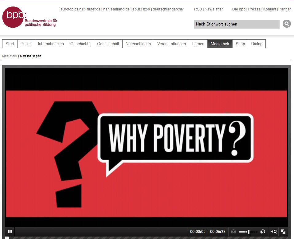 """Schnappschuss Film """"Gott ist Regen"""", Serie """"Why poverts?"""", Quelle: bpb"""