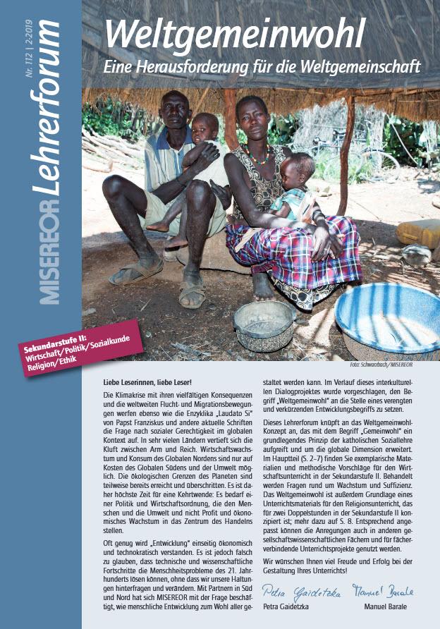 """Misereor Lehrerforum """"Weltgemeinwohl"""", Titelseite. Quelle: MISEREOR"""