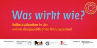 """Titelseite Flyer zur Seminarreihe """"Selbstevaluation in der entwicklungspolitischen Bildungsarbeit"""". Quelle: feb.engagement-global.de"""