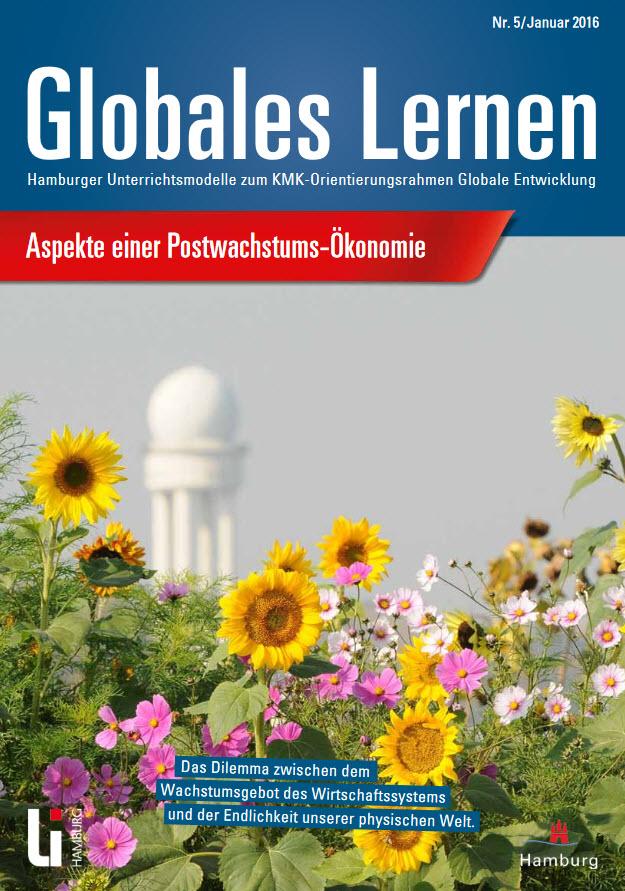 """Titelseite Materialheft """"Aspekte einer Postwachstums-Ökonomie"""" Quelle: li.hamburg.de"""