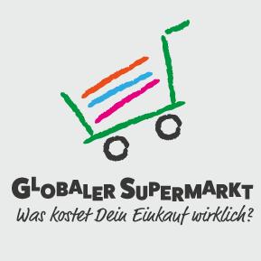 """Logo Digitales Lernangebot: """"Globaler Supermarkt – Online-Shop"""". Quelle: http://globalersupermarkt.de/"""