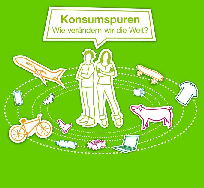 """Logo des Bildungsmaterials """"Konsumspuren"""" Quelle: https://www.greenpeace.de/konsumspuren"""