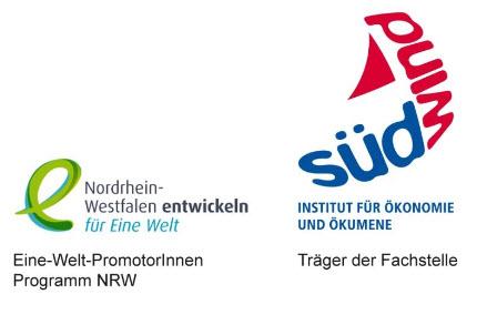 Logos Eine-Welt-PromotorInnen-Programm NRW und SÜDWIND-Institut. Quelle: suedwind-institut.de