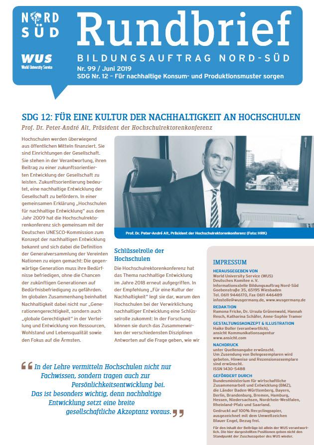 Titelblatt Rundbrief Bildungsauftrag Nord-Süd Juni 2019